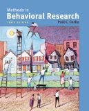 Book Cover Methods in Behavioral Research (10th, Tenth Edition) - By Paul C. Cozby [Book Only]