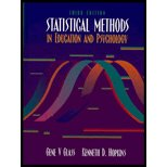 Book Cover Statistical Methods in Education and Psychology - Textbook Only