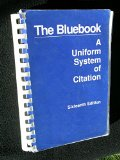 Book Cover The Bluebook a Uniform System of Citation 16th Ed