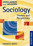 Book Cover Sociology: Activity Pack: Themes and Perspectives