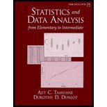 Book Cover Statistics and Data Analysis : From Elementary to Intermediate-Textbook Only