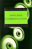 Book Cover Effective Communication (Developing Management Skills)