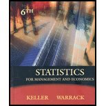 Book Cover Statistics for Management and Economics - Textbook Only