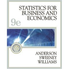 Book Cover Statistics for Business and Economics- Text Only