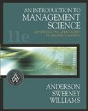 Book Cover An Introduction to Management Science : Quantitative Approaches to Decision Making- Text Only