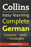 Book Cover Easy Learning Complete German Grammar, Verbs and Vocabulary (3 Books in 1) (Collins Easy Learning German) (German and English Edition)