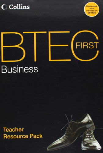 Book Cover BTEC First Business: Teacher Resource Pack