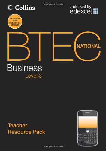 Book Cover Business. Teacher Resource Pack (BTEC National Business)