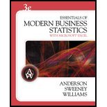 Book Cover Essentials of Modern Business Statistics With Microsoft Excel - Textbook Only