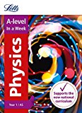Book Cover Letts A-level In a Week - New 2015 Curriculum – A-level Physics Year 1 (and AS): In a Week