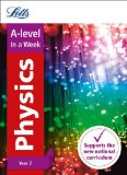 Book Cover Letts A-level In a week - New 2015 Curriculum – A-level Physics Year 2: In a Week