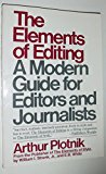 Book Cover The Elements of Editing: A Modern Guide for Editors and Journalists