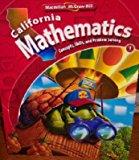 Book Cover California Mathematics Grade 1 (Volume 1)