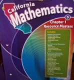 Book Cover Chapter 1 Resource Masters Grade 5 (California Mathematics, Math Connects)