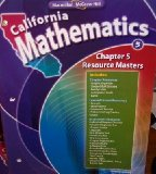 Book Cover Chapter 5 Resource Masters Grade 5 (California Mathematics, Math Connects)
