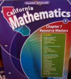 Book Cover Chapter 7 Resource Masters Grade 5 (California Mathematics, Math Connects)