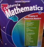 Book Cover Chapter 8 Resource Masters Grade 5 (California Mathematics, Math Connects)