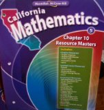 Book Cover Chapter 10 Resource Masters Grade 5 (California Mathematics, Math Connects)