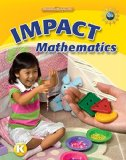 Book Cover Math Connects, Grade K, IMPACT Mathematics, Student Edition