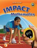 Book Cover Math Connects, Grade 3, IMPACT Mathematics, Student Edition