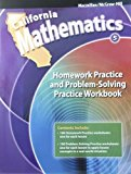 Book Cover California Mathematics 5th Grade Homework Practice and Problem-Solving Practice Workbook