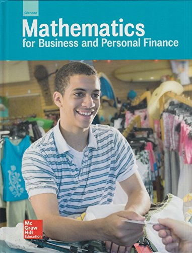 Book Cover Glencoe Mathematics for Business and Personal Finance, Student Edition (LANGE: HS BUSINESS MATH)