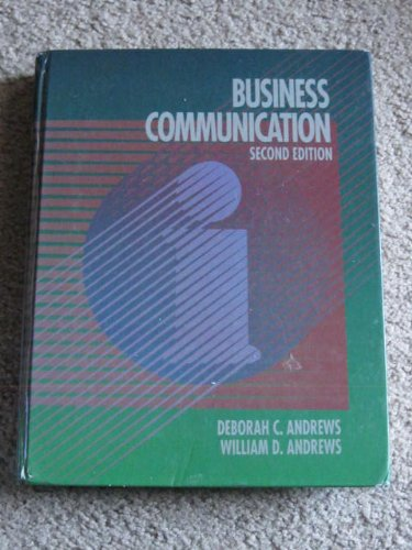 Book Cover Business Communication