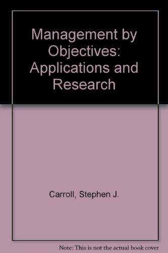 Book Cover Management by Objectives: Applications and Research