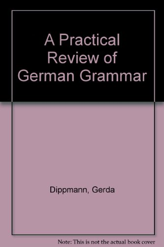 Book Cover A practical review of German grammar