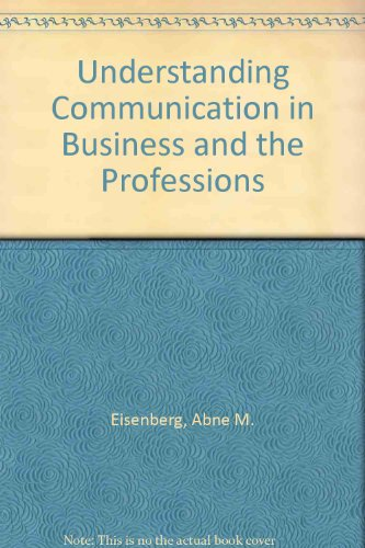 Book Cover Understanding Communication in Business and the Professions
