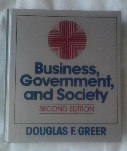 Book Cover Business, government, and society