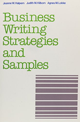 Book Cover Business Writing Strategies and Samples