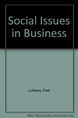 Book Cover Social Issues in Business