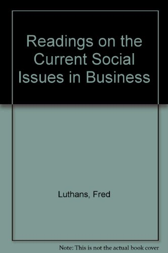 Book Cover Readings on the Current Social Issues in Business