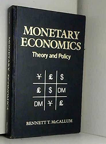 Book Cover Monetary Economics: Theory & Practice