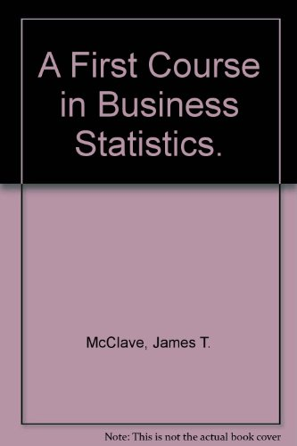 Book Cover A First Course in Business Statistics.