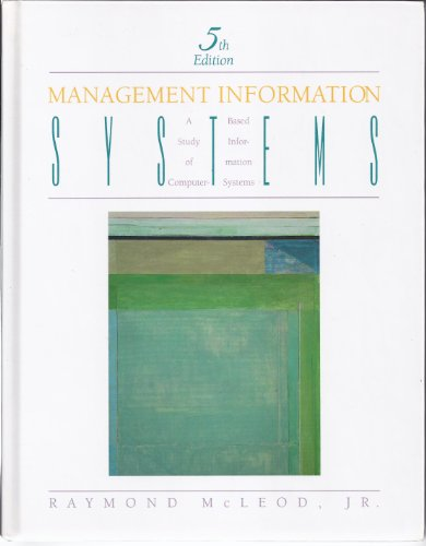 Book Cover Management Information Systems: A Study of Computer Based Information Systems