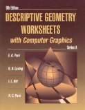 Book Cover Descriptive Geometry Worksheets with Computer Graphics, Series A