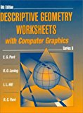 Book Cover Descriptive Geometry Worksheets with Computer Graphics, Series B