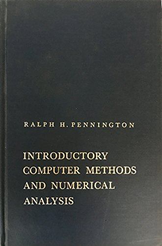 Book Cover Introductory Computer Methods and Numerical Analysis