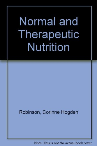 Book Cover Normal and Therapeutic Nutrition