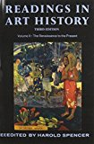 Book Cover Readings in Art History, Vol. 2: The Renaissance tothe Present, 3rd Edition