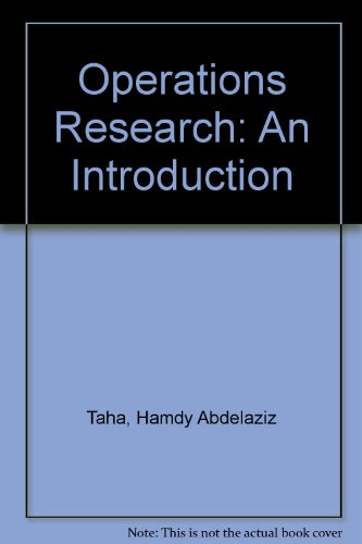 Book Cover Operations Research: An Introduction