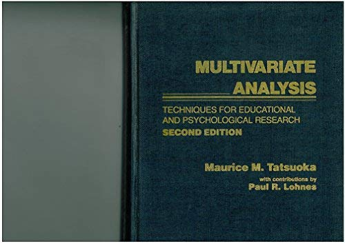 Book Cover Multivariate Analysis: Techniques for Educational and Psychological Research