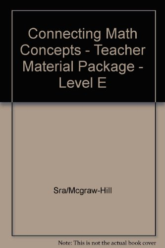 Book Cover Connecting Math Concepts - Teacher Material Package - Level E
