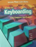 Book Cover Keyboarding with Computer Applications - Lesson Plans with Disks