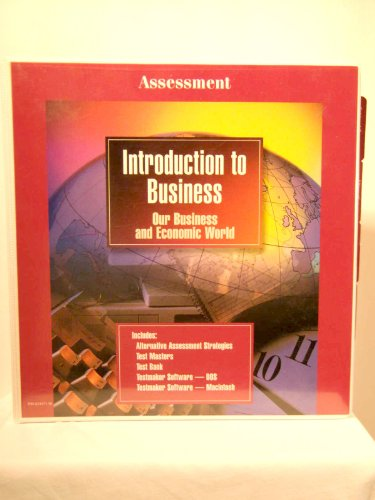 Book Cover Glencoe Introduction to Business, Our Business and Economic World (Assessment Binder)