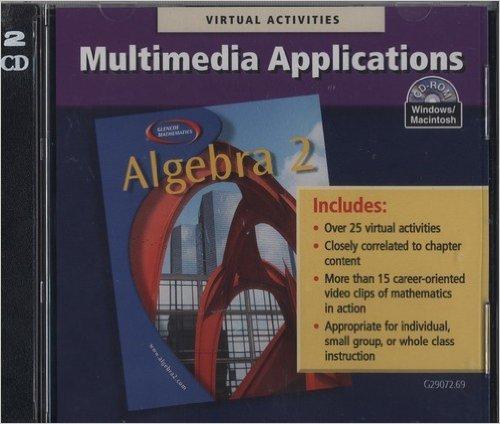 Book Cover Algebra 2 Multimedia Applications Windows/Mac