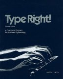 Book Cover Type Right: A Complete Program for Business Typewriting