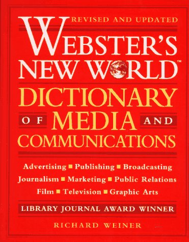 Book Cover Webster's New World Dictionary of Media and Communications